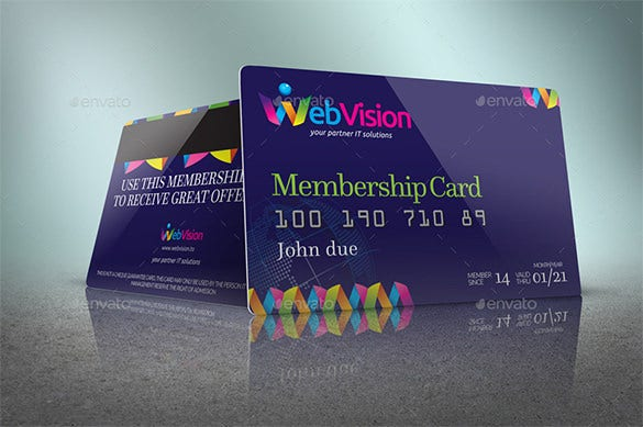 Attractive Best Photoshop PSD Membership Card Template Regarding Membership Cards Templates