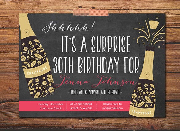 16 Outstanding Surprise Party Invitations Designs Free