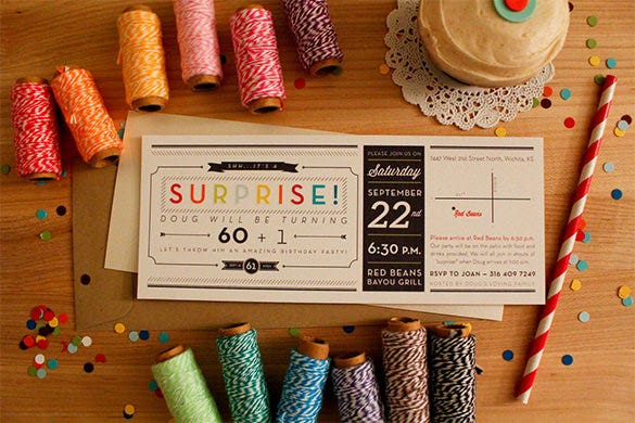 12+ outstanding surprise party invitations & designs! | free, Party invitations