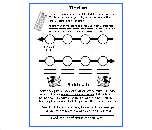 6 biography timeline templates free word excel format download biography newspaper article timeline template toneelgroepblik Gallery