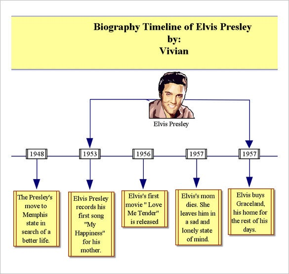 Biography Timeline Templates  Free Word Excel Format Download