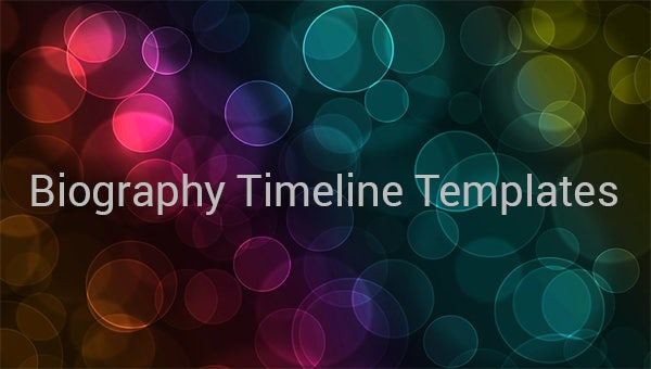 biography timeline templates