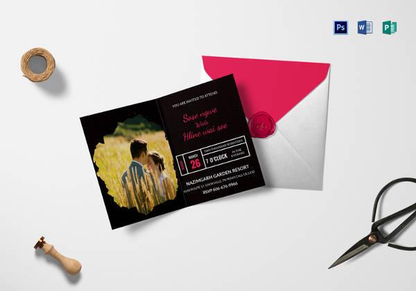 black-engagement-invitation-card-template