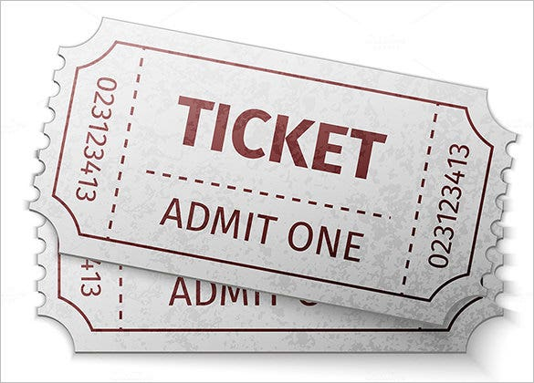 Blank Vintage Movie Ticket Template Vintage Admit One Ticket. Ticket  Template U2013 81+ Free Word, Excel, PDF, PSD, EPS Formats Download U2026  Blank Admit One Ticket Template