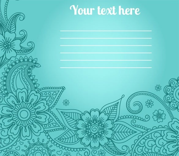 Blank Anniversary Card With Floral Paisley Pattern For $6  Printable Wedding Anniversary Cards