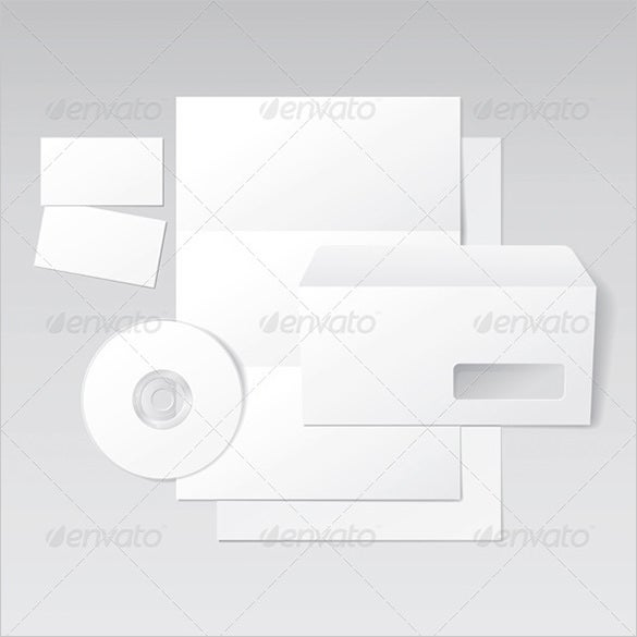 blank business letter envelope card cd template for 5