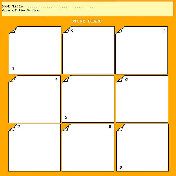 Website Storyboard Template: Education Storyboard Template