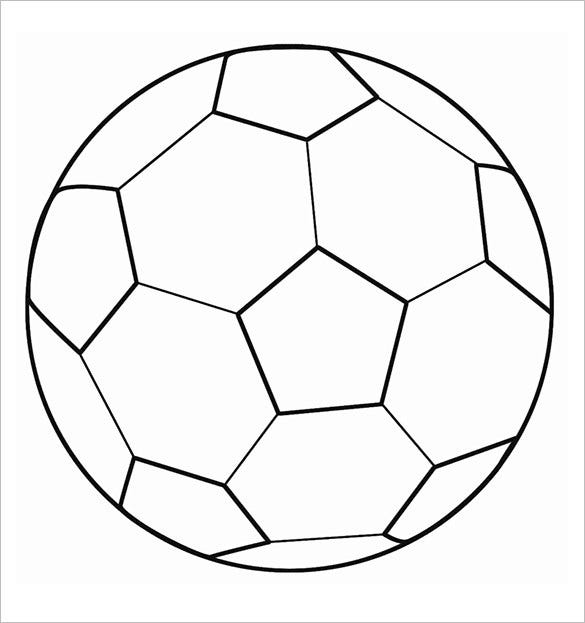 Critical image within printable soccer ball template