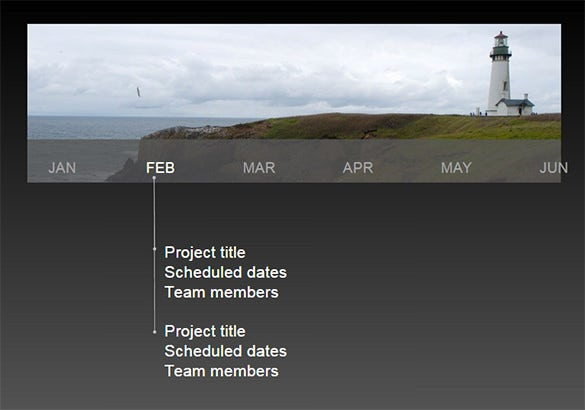 blank graphic timeline temlate free ppt