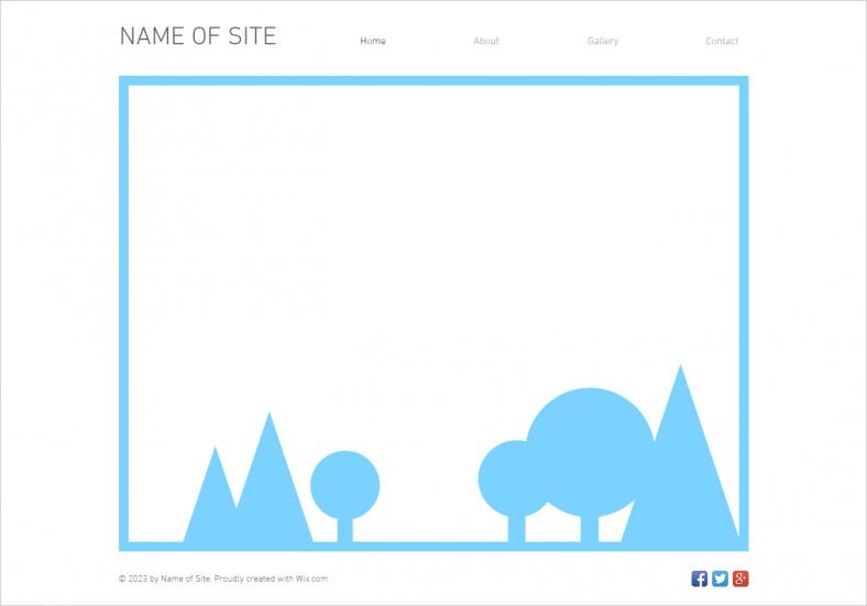 Blank Html5 Template