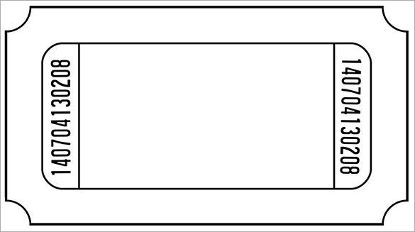 Blank Meal Ticket Template