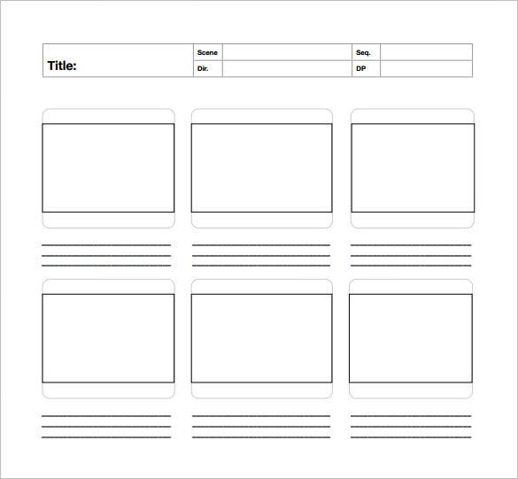 Storyboard Template - 77+ Free Word, Pdf, Ppt, Psd Format | Free