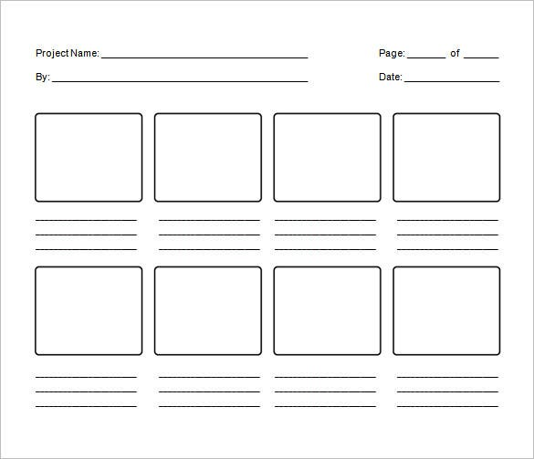 Blank Storyboard Template To PrintStoryboardPrintable Coloring