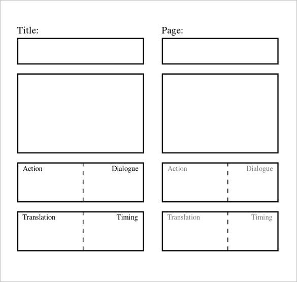 Storyboard Template 77 Free Word PDF PPT PSD Format – Storyboard Sample in Word