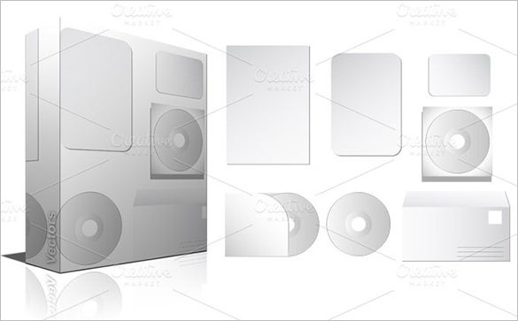 blank stationery pack with cd envelope illustrator for 4
