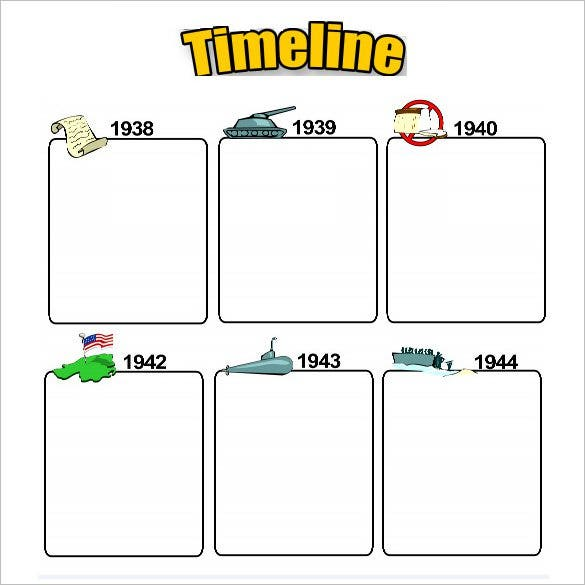 blank timeline template for kids pdf download