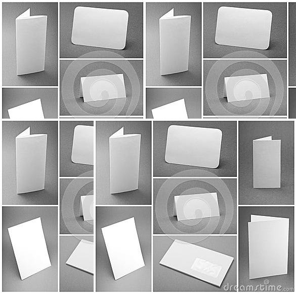 blank white folding paper template free download