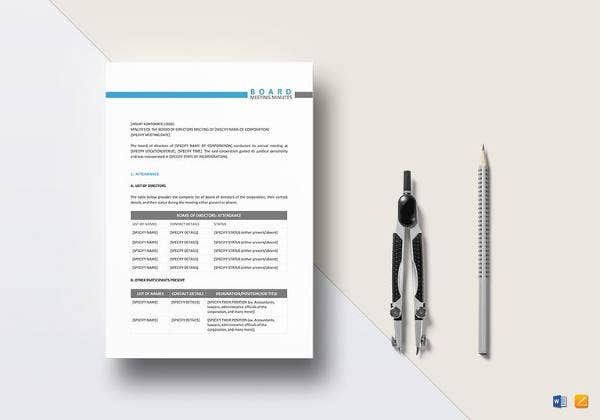 board-meeting-minutes-design-template