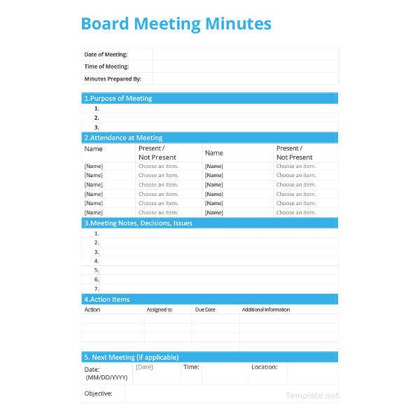 board meeting minutes template3