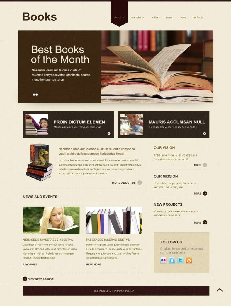 book reviews joomla template 788x1046