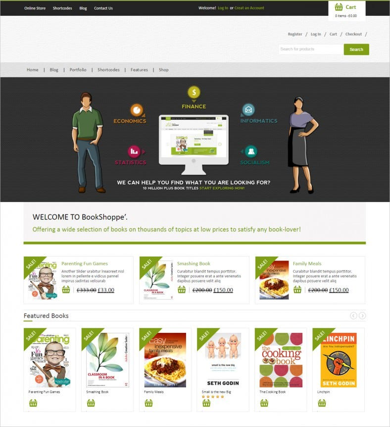 book store responsive woocommerce theme 788x862
