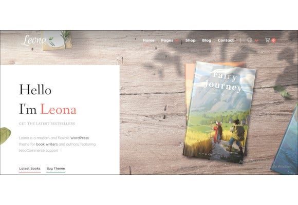 book writers and authors bootstrap wordpress theme
