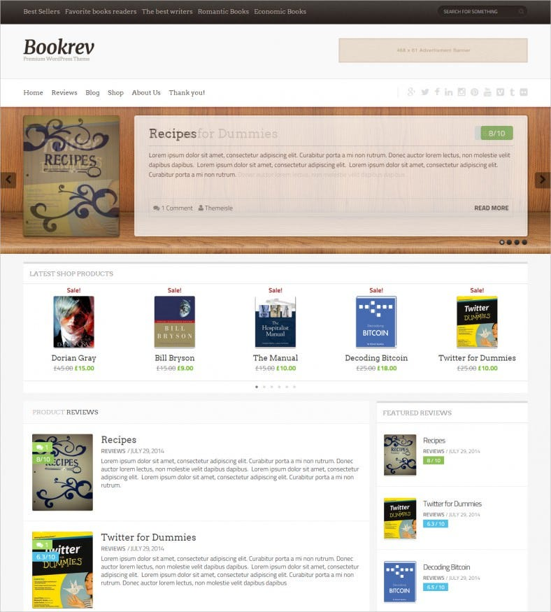 Book reviews website