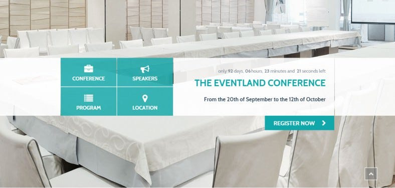 Bootstrap Integrated Event Land Landing Page