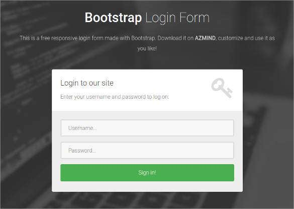 15 free html5 css3 login forms download free premium templates. Black Bedroom Furniture Sets. Home Design Ideas