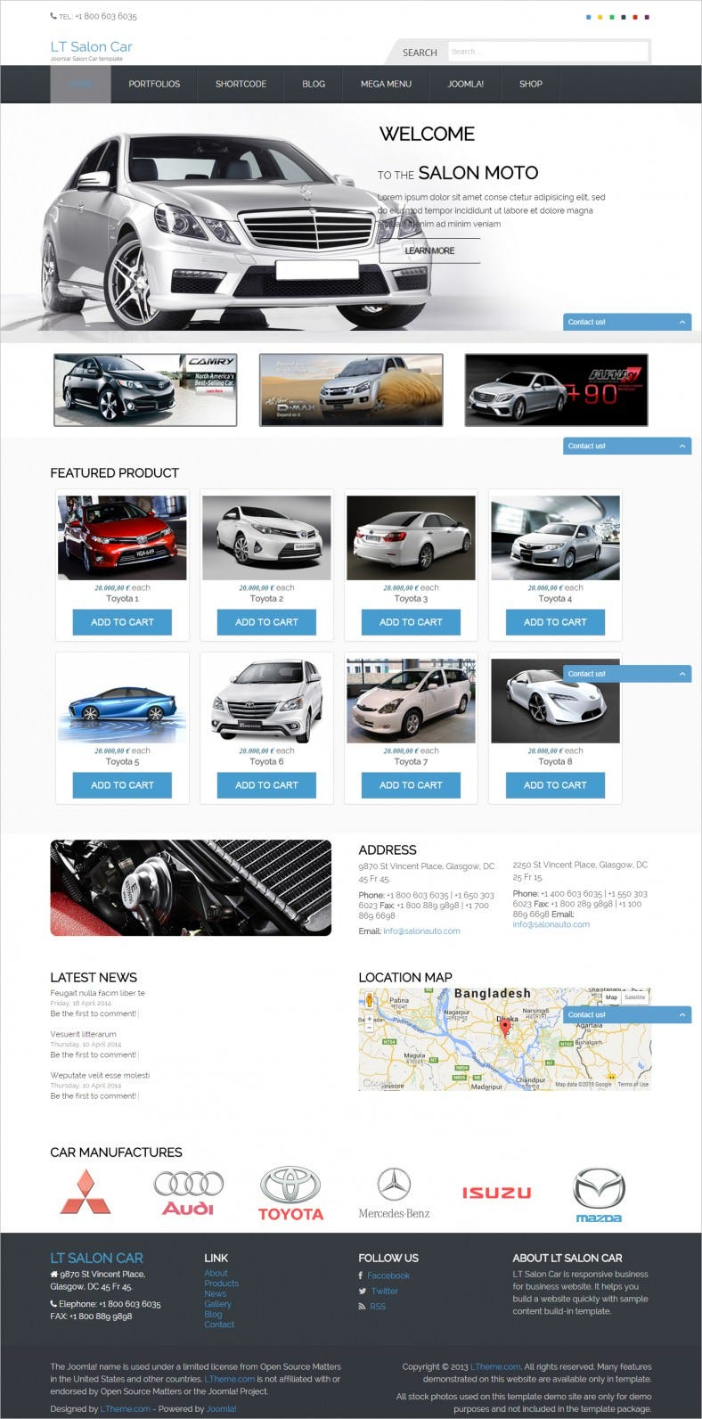 5 best car dealer joomla templates free premium templates