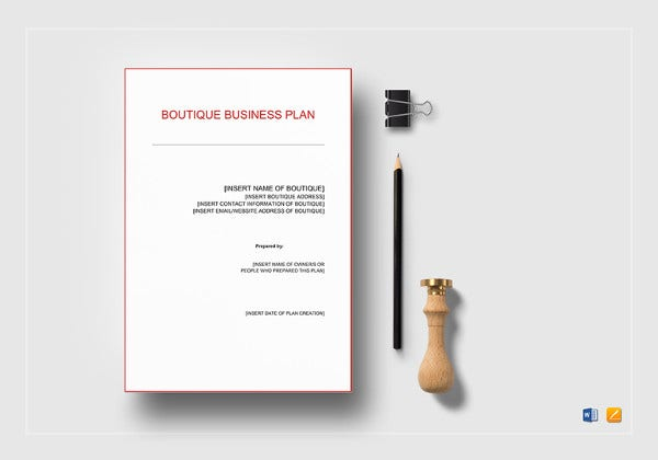 Boutique business plan template 12 free word excel pdf format boutique business plan template accmission Gallery