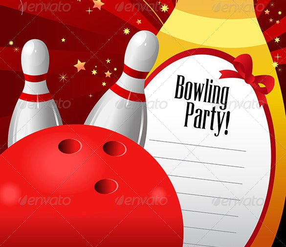 Outstanding Bowling Invitation Templates Designs Free - Bowling birthday party invitations free templates