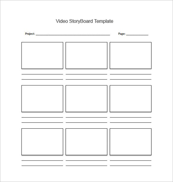 Storyboard template 85 free word pdf ppt psd format free boxed style video storyboard template download saigontimesfo
