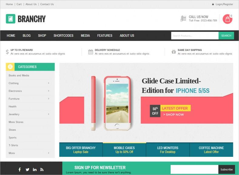 Mobile Stores WordPress Templates & Themes | Free &Premium | Free ...