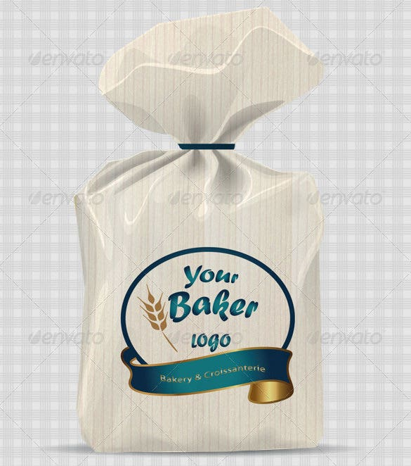 bread paper bag mock up template