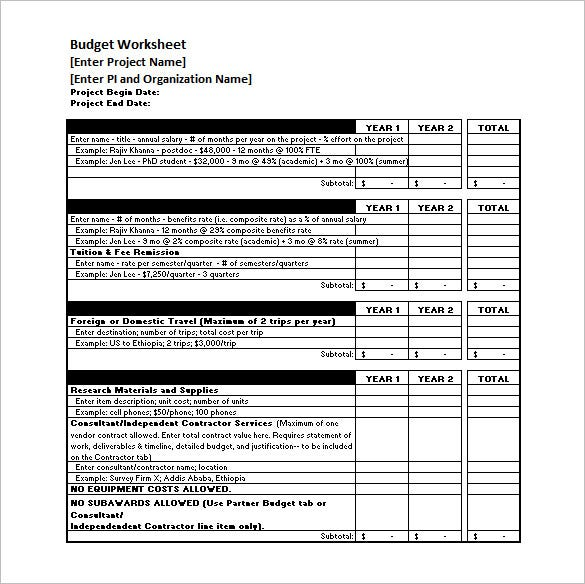 Sample Travel Budget Budget Process Timeline Sample Excel Format