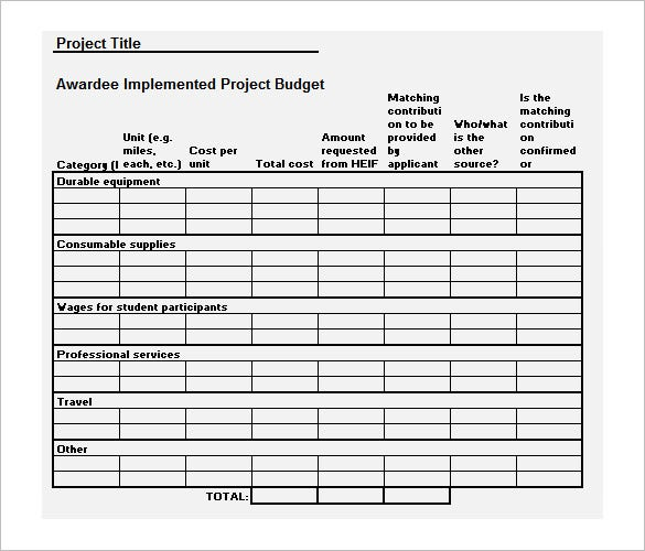 Budget Timeline Templates  Free Sample Example Format Download
