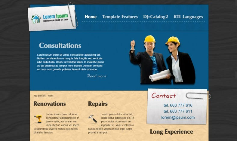 Building Constructions Joomla Website Template