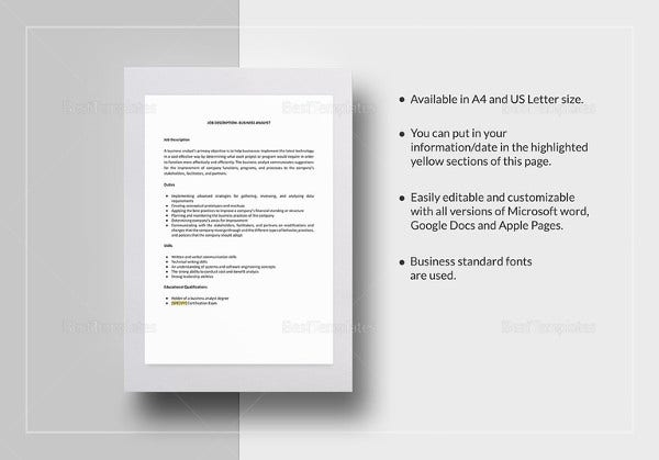 job description templates 32 free word excel pdf free