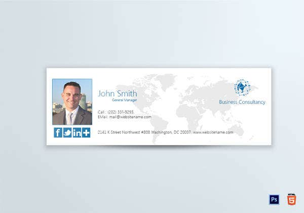 business consultancy general manager email signature