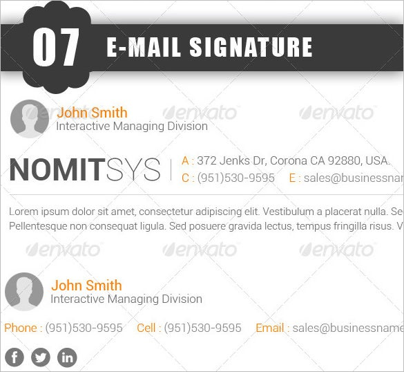 business email signature download edit
