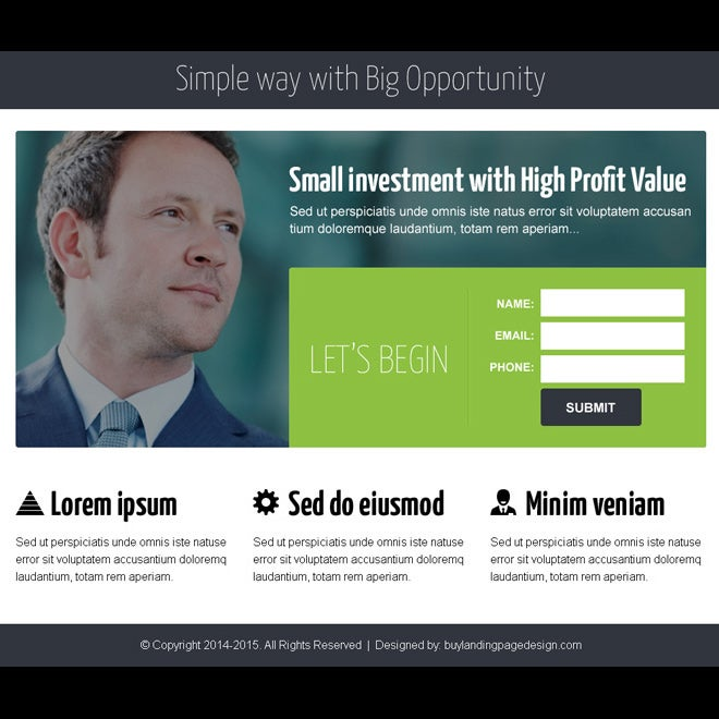 Business Opportunity Ppv Landing Page Design