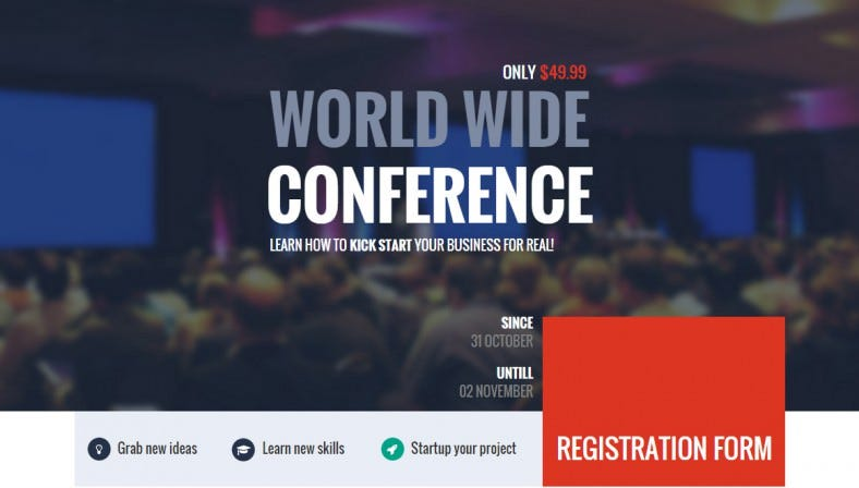 Business Startup Conference Landing Page