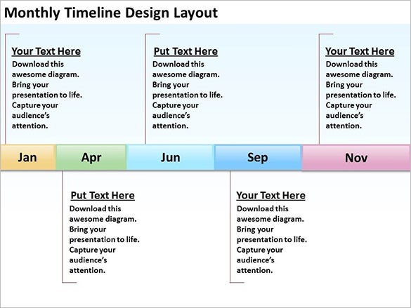 business timeline example free download