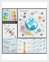 Business Timeline Infographic Vector EPS Examples