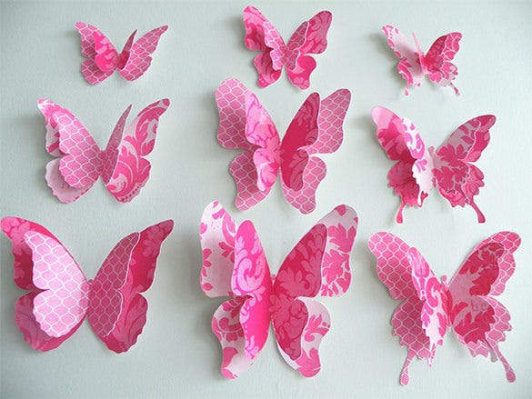 13 PSD Paper Butterfly Templates Designs – Butterfly Template