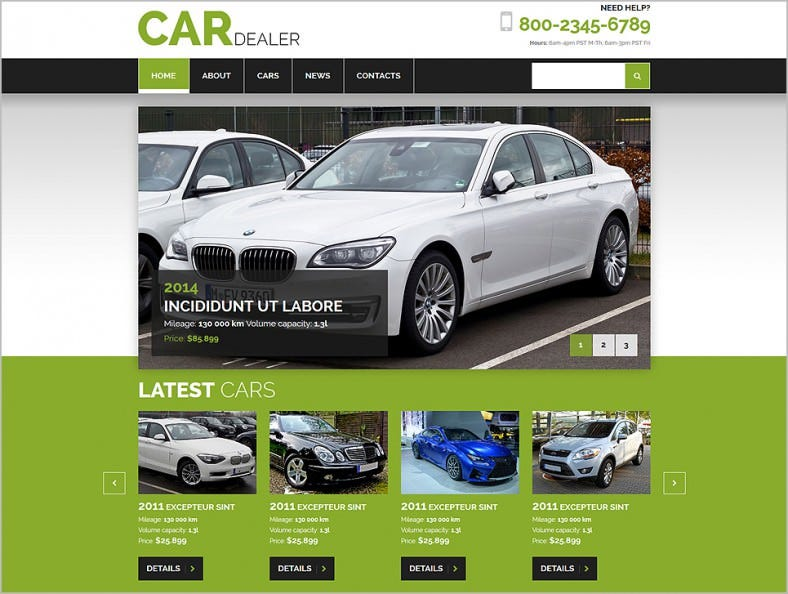 car dealer joomla template 788x594