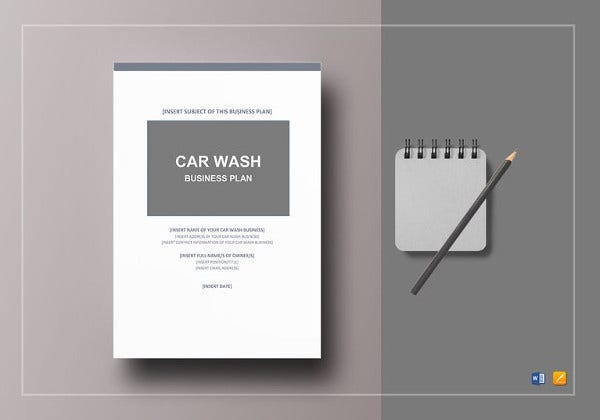 Car Wash Business Plan Template – 14+ Free Word, Excel ...