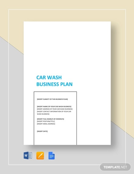 car wash business plan template2