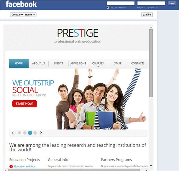 facebook template  u2013 49  free word  pdf  psd  ppt format